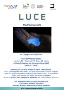 LUCE – Mostra fotografica @ Orto Botanico di Brera